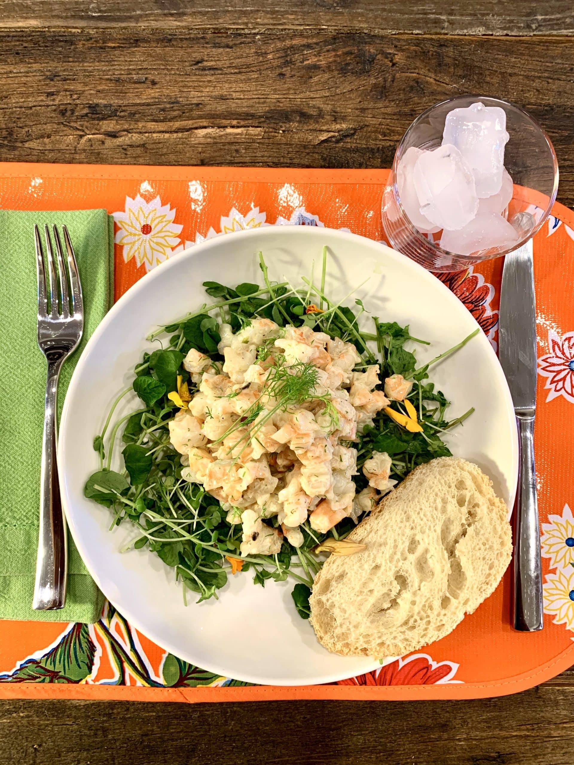 Light and Lovely Fennel Shrimp Salad